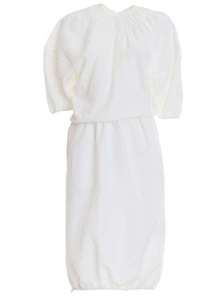 Jil Sander Loose Dress in bianco