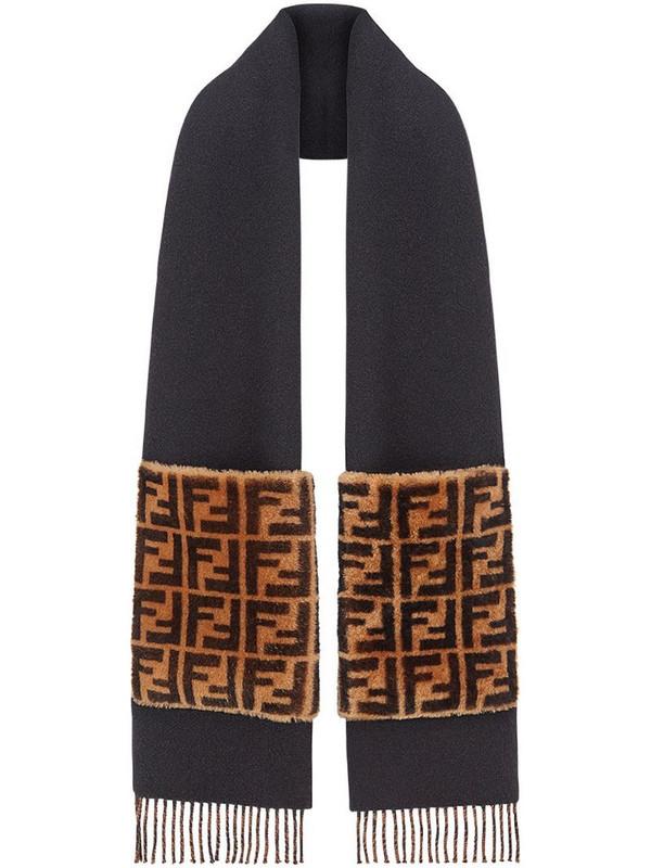 Fendi Touch Of Fur scarf in black