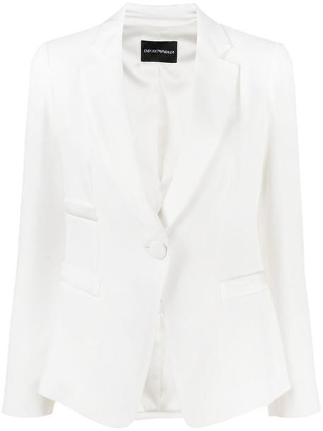 Emporio Armani tailored single-breasted blazer in white