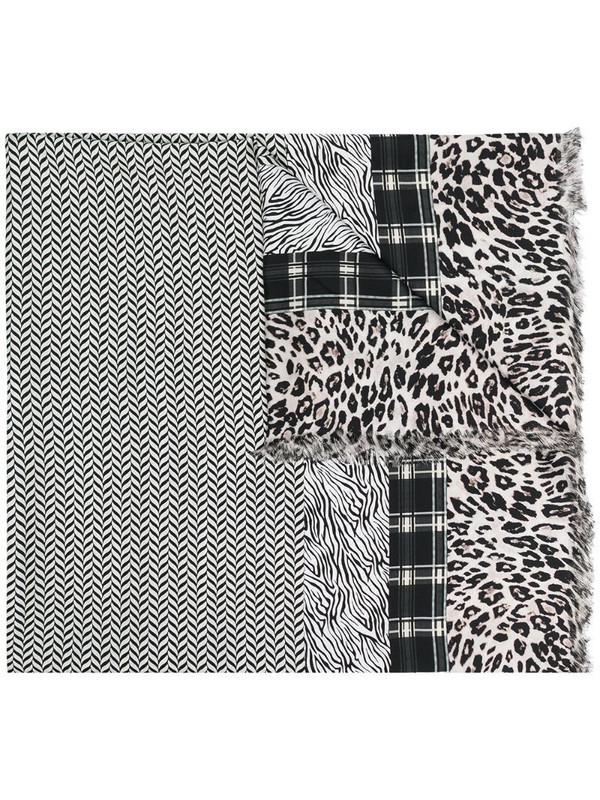 Pierre-Louis Mascia mixed-print silk scarf in white