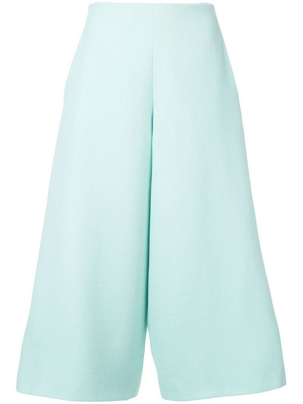 Delpozo cropped trousers in green