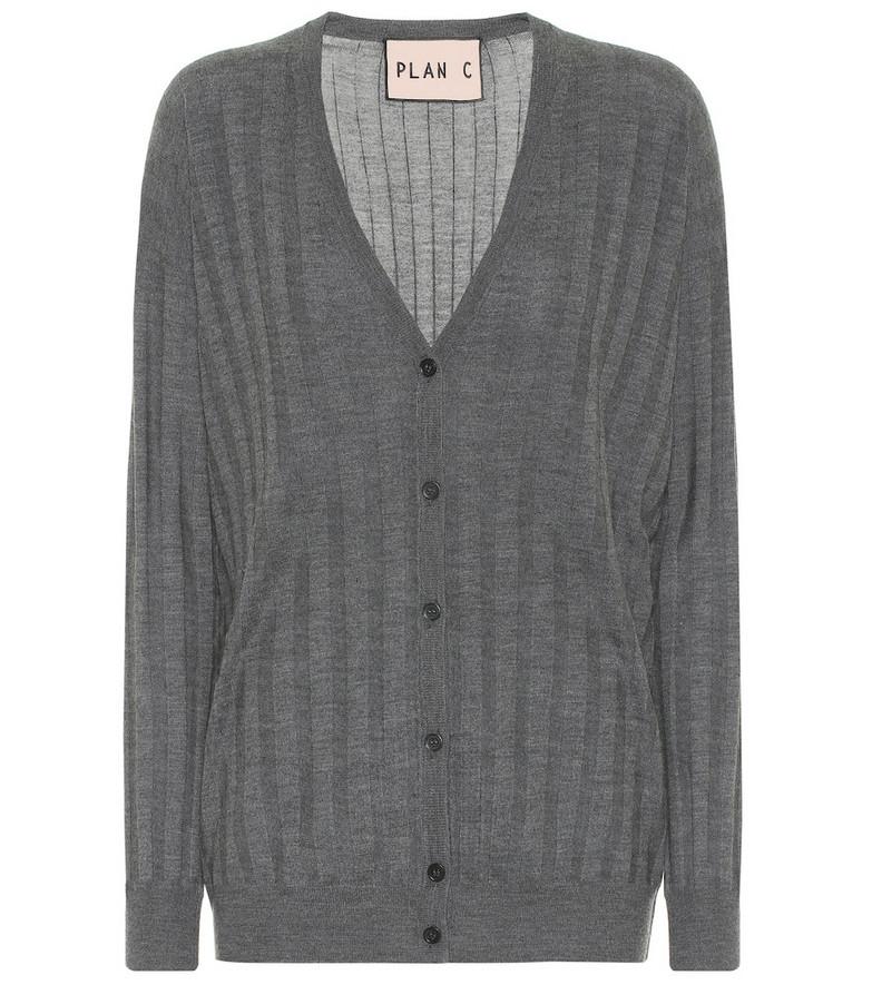 Plan C Wool cardigan in grey