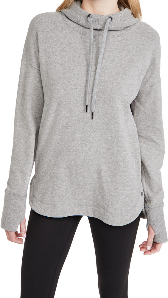 Sweaty Betty Escape Luxe Fleece Hoodie in grey