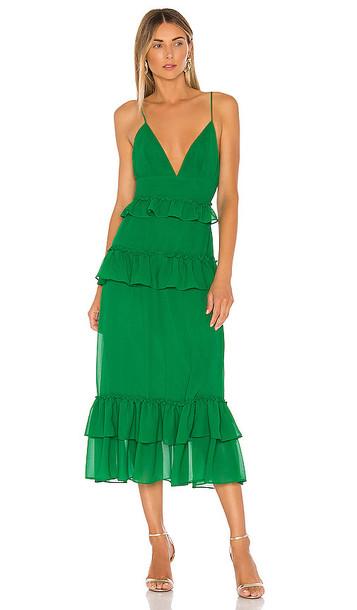 Lovers + Friends Lovers + Friends Brexley Midi Dress in Green