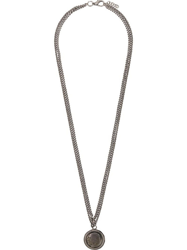 Gianfranco Ferré Pre-Owned 2000s face pendant necklace in silver