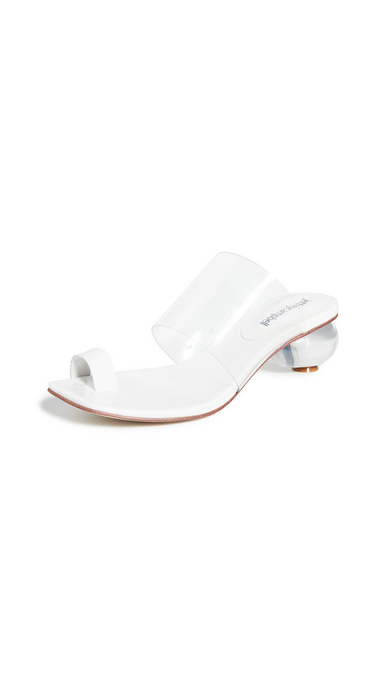 Jeffrey Campbell Caro Toe Ring Sandals in white / clear