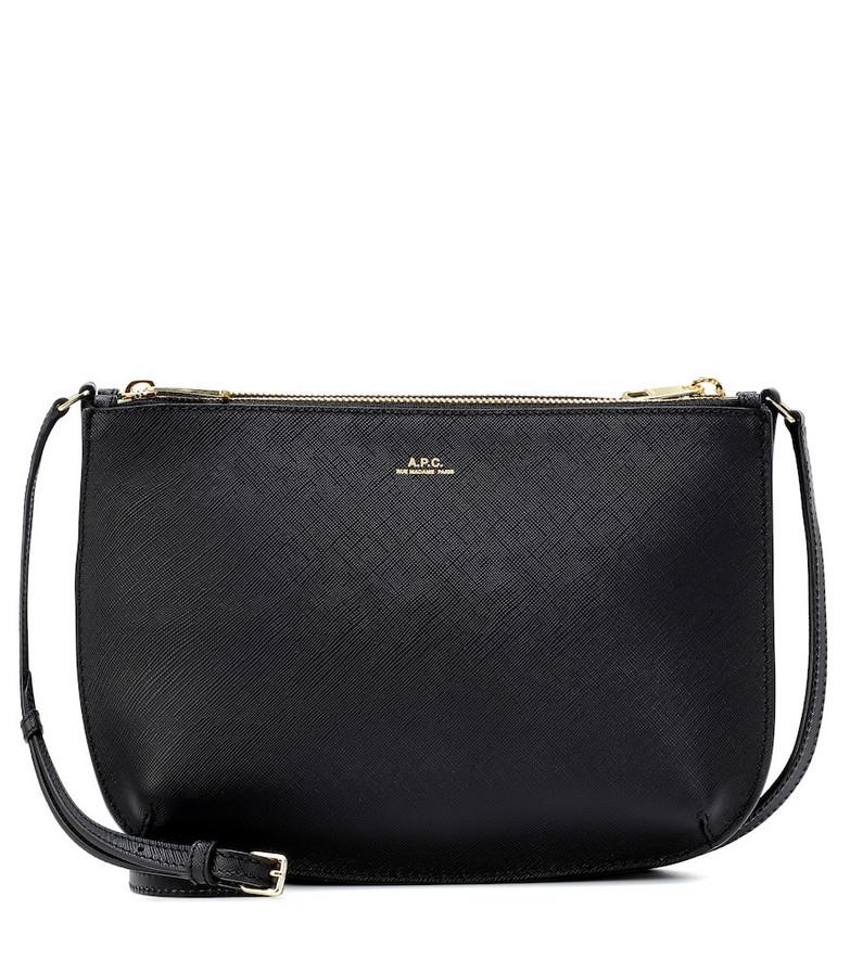 A.P.C. Sarah leather crossbody bag in black