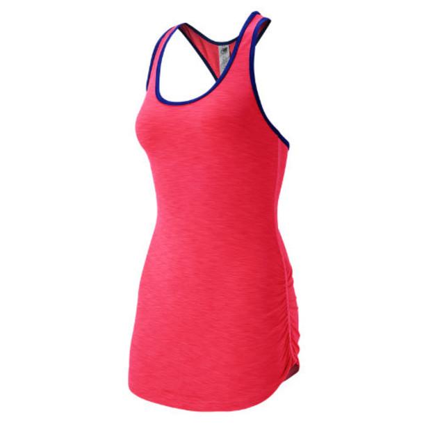 New Balance 53124 Women's Fashion Tank - Pink Zing Heather (WT53124PZH)