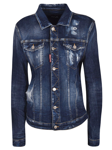Dsquared2 Cropped Jacket in blue