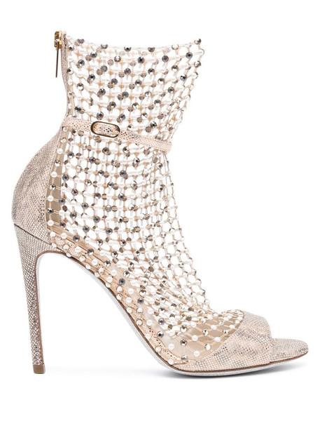 René Caovilla Galaxia boots in gold