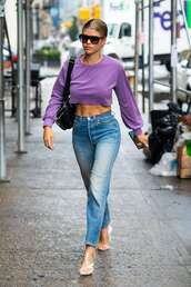 shoes,sofia richie,celebrity,sandals,jeans,denim,crop tops,cropped,mules