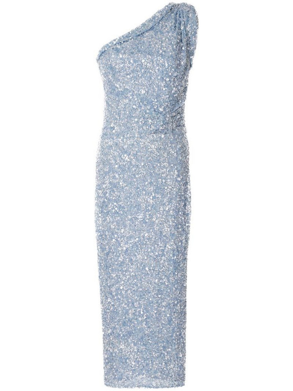 Rachel Gilbert Reed embellished midi dress in blue