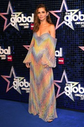 shoes,off the shoulder,off the shoulder dress,cheryl cole,celebrity,maxi dress,gown