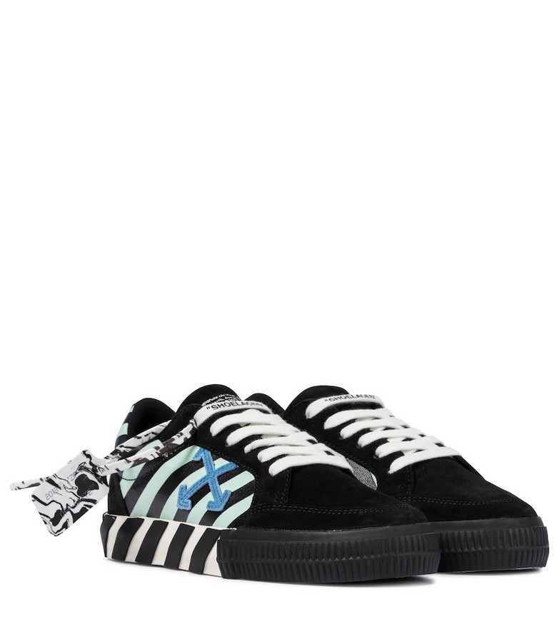 Off-White Exclusive to Mytheresa – Low Vulcanized suede sneakers in black
