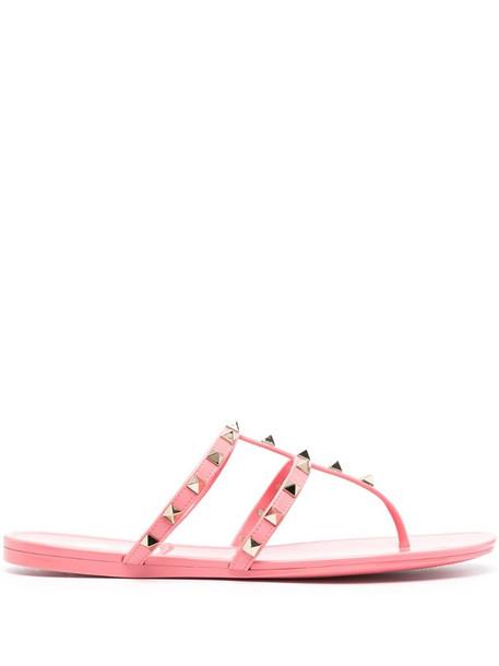Valentino Garavani Rockstud T-bar strap sandals in pink