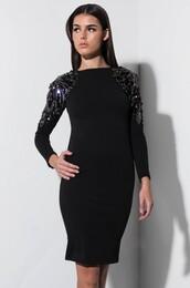 dress,embellished shoulder dress,long sleeve dress,mini dress,evening dress,party outfits