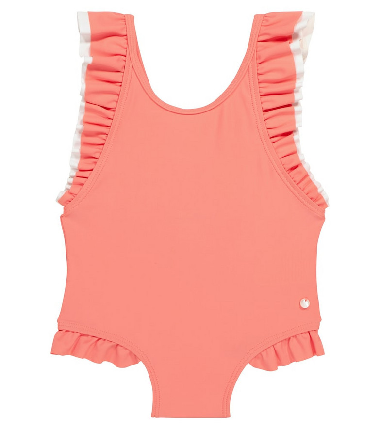 Tartine et Chocolat Frill-trimmed swimsuit in pink