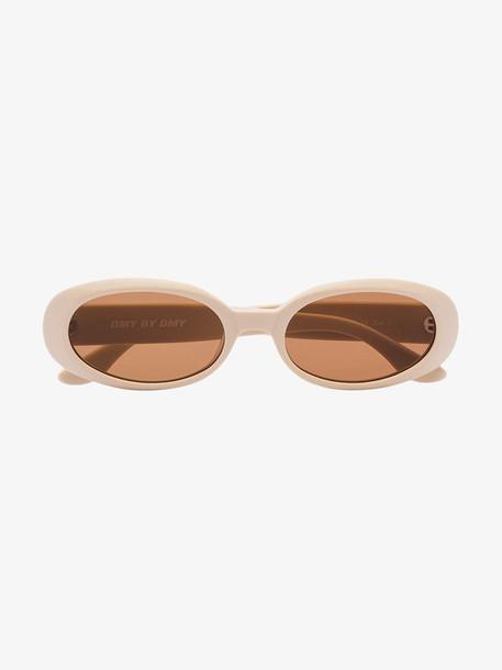 Dmybydmy cream valentina oval sunglasses