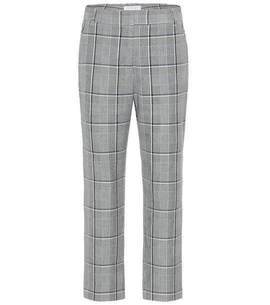 Velvet Abigail high-rise straight pants in grey