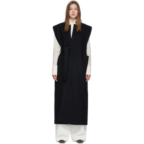 Jil Sander Navy Wool Vest