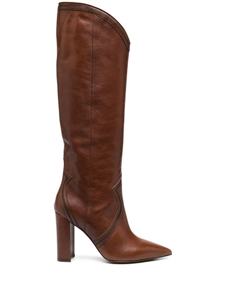 L'Autre Chose pointed knee-length boots in brown