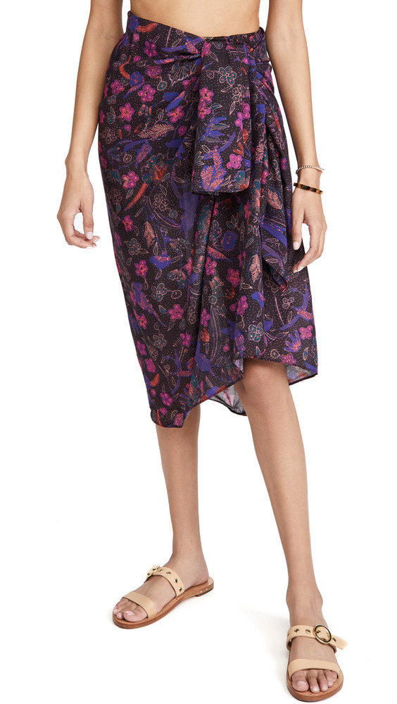 Ulla Johnson Paz Cover Up Sarong in fuchsia