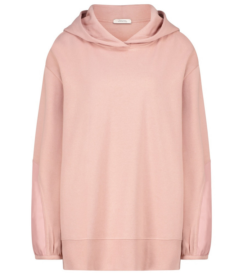 Dorothee Schumacher Casual Coolness cotton-blend hoodie in pink