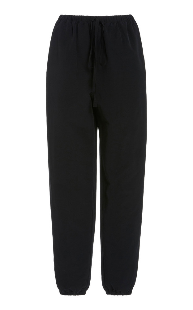 Staud Claude Grosgrain Sweatpants in black