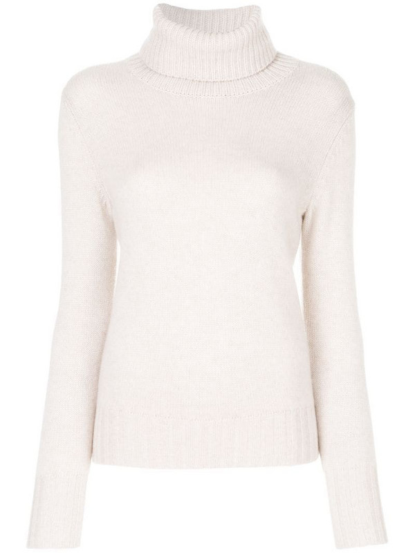 N.Peal chunky roll neck jumper in neutrals