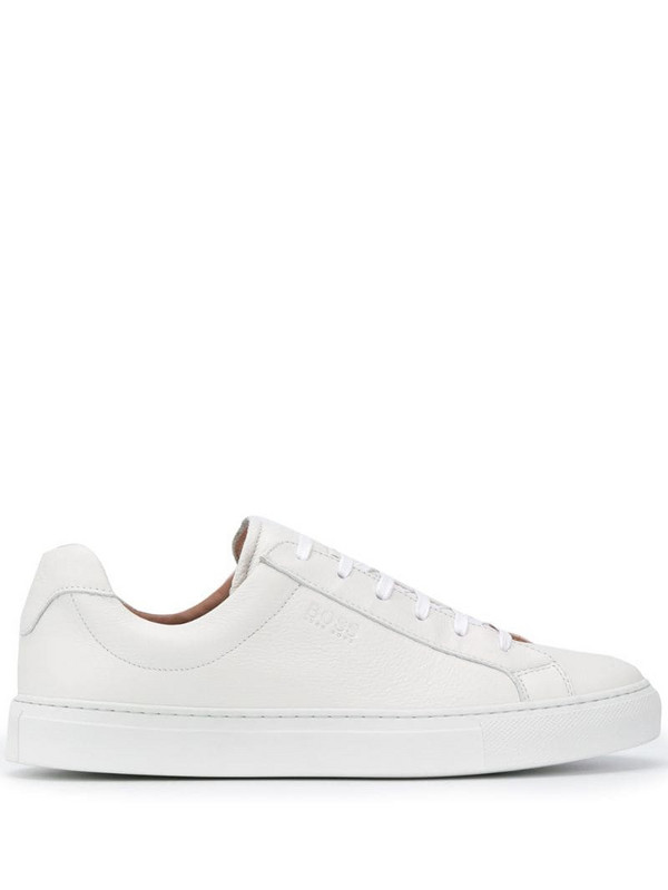 BOSS lace-up low-top sneakers in white