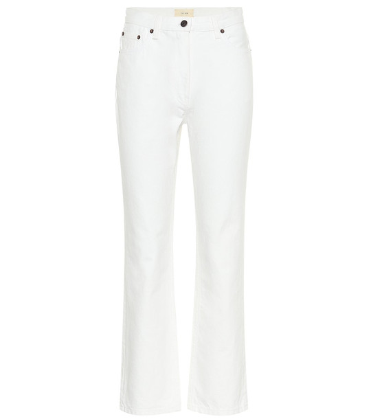 The Row Charlee high-rise cropped jeans in white