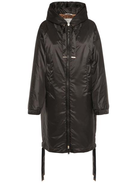 MAX MARA Hooded Waterproof Coat in black