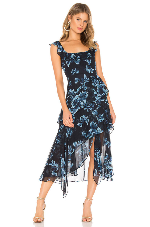 BCBGMAXAZRIA Midi Cocktail Dress in navy