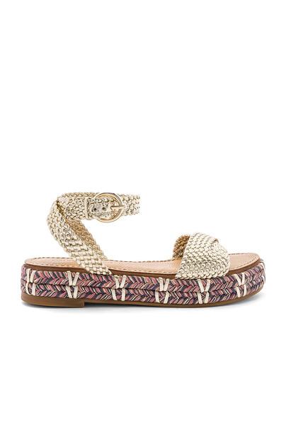 Sigerson Morrison Jaiyce Sandal in gold / metallic