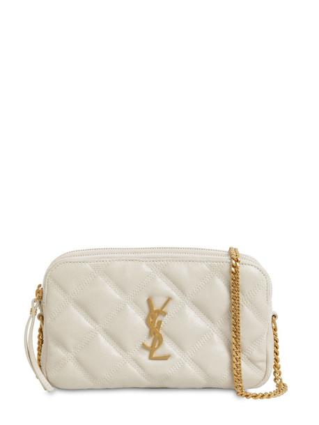 SAINT LAURENT Becky Double Zip Shoulder Bag