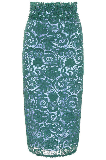N.21 Lace Pencil Skirt in blue / green