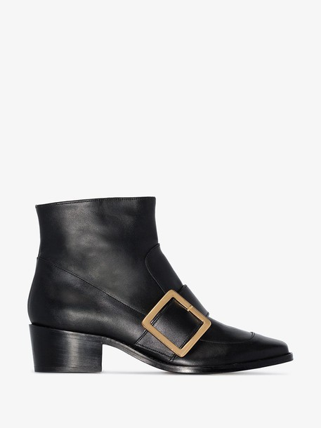 Roker Whickham 35 buckled ankle boots in black