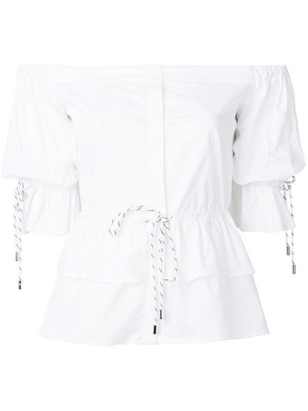 Christian Pellizzari strapless shirt in white