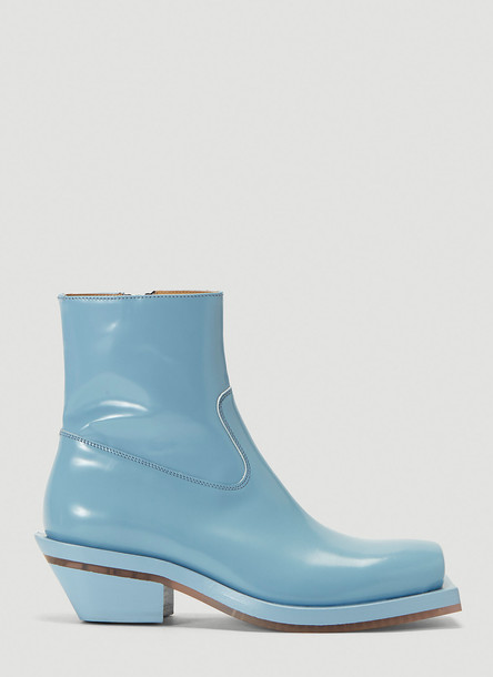 Ion Squared-Toe Cowboy Boots in Blue size EU - 38