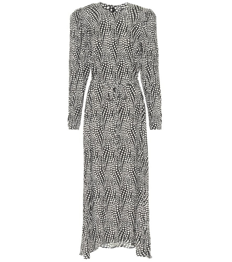 Isabel Marant Telenda polka-dot midi dress in black