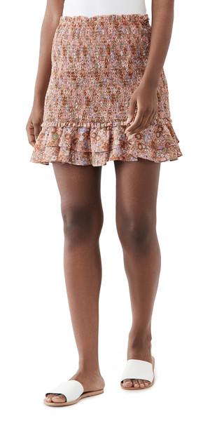 Veronica Beard Melodie Skirt in coral