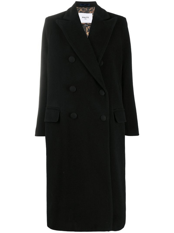 Paltò Arianna double-breasted wool coat in black