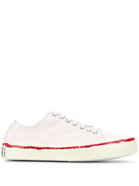 Marni Gooey low-top canvas sneaker in neutrals