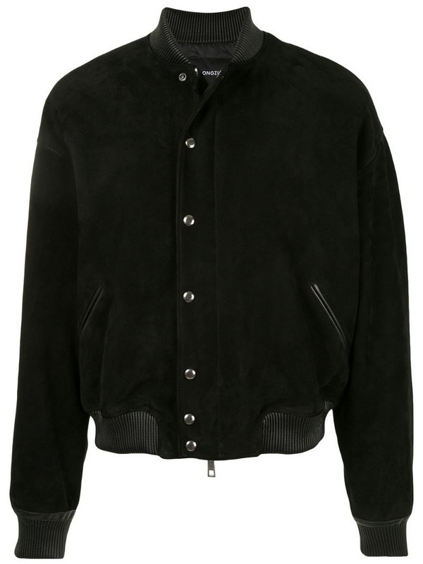 SONGZIO MA-1 suede cocoon jacket in black