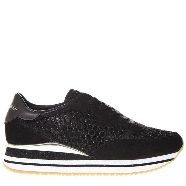 Crime london Dynamic Black Mesh & Suede Sneakers