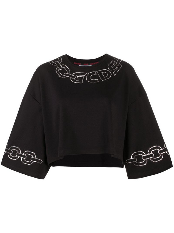 Gcds embellished logo top in black