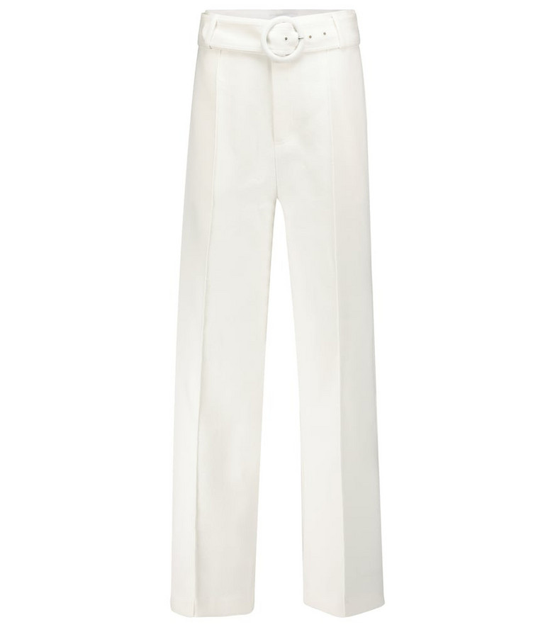 SIR Jacque cotton-blend wide-leg pants in white
