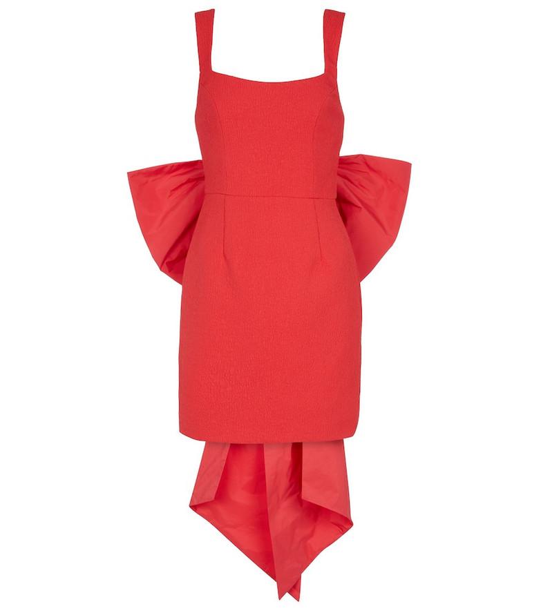 Rebecca Vallance Calla crêpe minidress in red