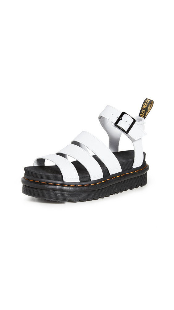 Dr. Martens Blaire Chunky 3 Strap Sandals in white
