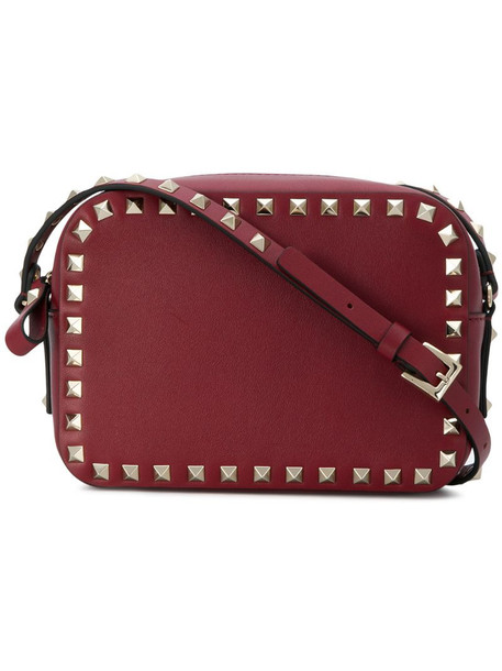 Valentino Garavani Rockstud crossbody bag in red
